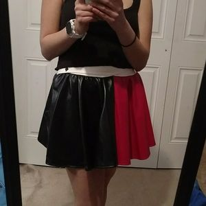 Dresses & Skirts - Fake leather Harley Quinn skirt